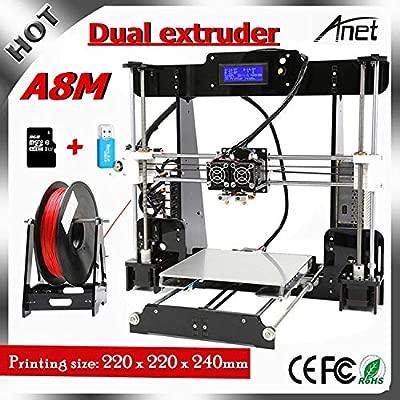 Anet A8 Impresora 3d, Prusa I3 3d printer con Dual extruder ...