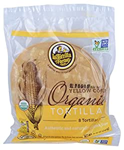 La Tortilla Factory Yellow Corn Organic Tortillas 2 Pack (16 Tortillas)