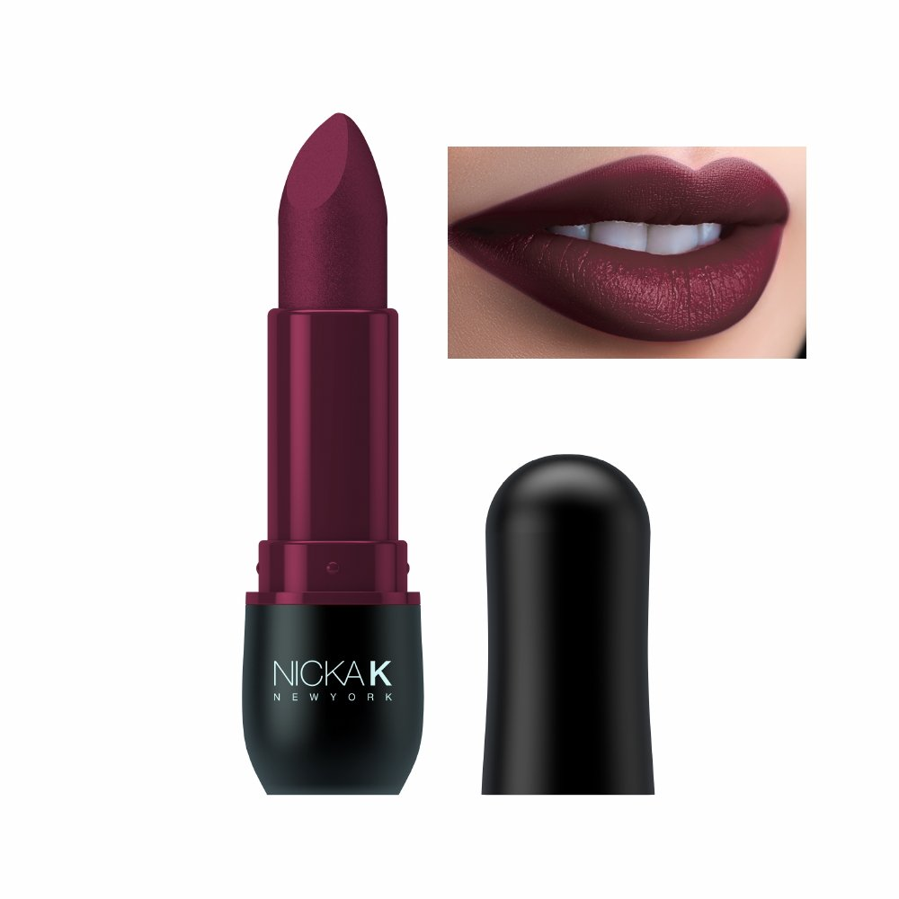 Nicka K New York Vivid Matte Lipstick (Violet Red)