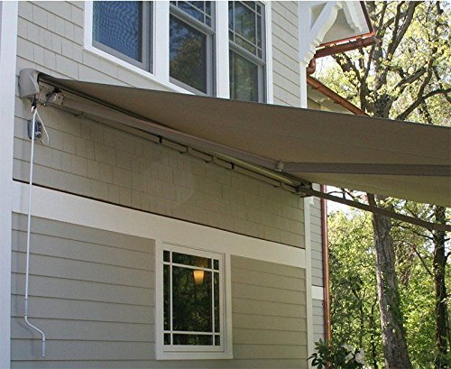 XtremepowerUS Patio Manual Retractable Sunshade Awning Shade Outdoor - Beige (10' x 8'ft) UV Resistant Water Sun Shade by XtremepowerUS (Image #2)