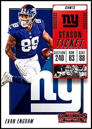 cafca057e 2018 Panini Contenders Season Tickets  32 Evan Engram New York Giants NFL  Football Trading Card