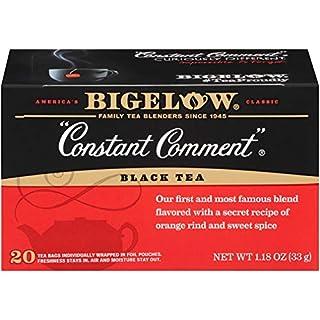 Bigelow Constant Comment Black Tea Bags 20 Count Box (Pack of 6), Caffeinated Black Tea Bags, 120 Tea Bags Total