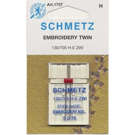 Schmetz 1737 1 Count Double Embroidery Machine Needle, 3.0/75 -  Wright Co