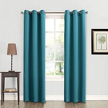 Amazon.com: Blackout, Room Darkening Curtains Window Panel Drapes ...