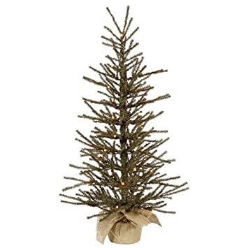 vickerman 24 vienna twig artificial christmas tree with 20 clear lights - Artificial Christmas Trees With Lights