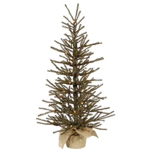 Amazon.com: Vickerman Pre-Lit Vienna Twig Artificial Christmas Tree in  Burlap Base with Clear Lights, 3': Home & Kitchen - Amazon.com: Vickerman Pre-Lit Vienna Twig Artificial Christmas Tree