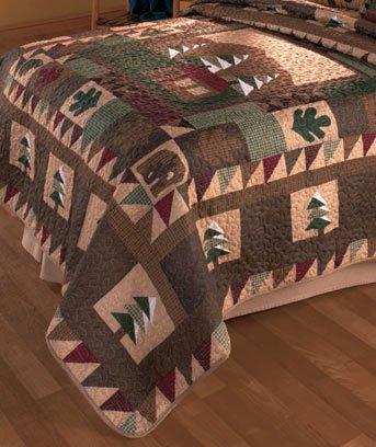 [Big Pine Full/Queen Quilt] (Big Bear Lodge)