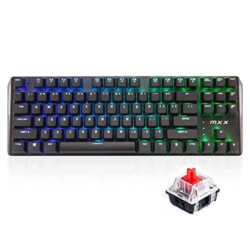 3 opinioni per Rantopad MXX Chroma RGB Backlight Gaming Mechanical Keyboard- 87 Keys, Black