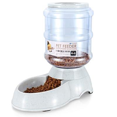 Flexzion Automatic Gravity Pet Food Feeder Dispenser