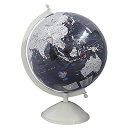 12 Decorative Rotating Globe Black Ocean World Geography Earth Home Decor