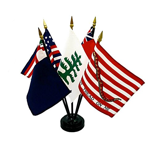Style 2 Colonial Miniature Flag Kit (4 in. x 6 in. flag / 10 in. (Rayon Mounted Stick Flag)