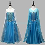 FE14 Disney Frozen Inspired Elsa Costume Girl Dress Halloween 3T-12 2 Colors