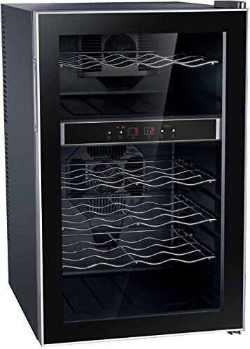 SPT WC-2462M 24 Bottle Dual-Zone Thermo-Electric Wine Cooler, Black -