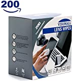 #2: VISUMALL 200 Lens Wipes - Pre-Moistened Lens Cleaning Wipes