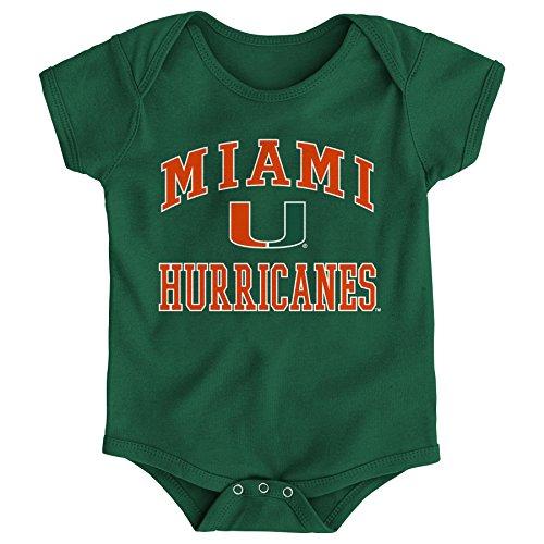 NCAA Miami Hurricanes Newborn & Infant Primary Logo Bodysuit, 24 Months, Hunter Green