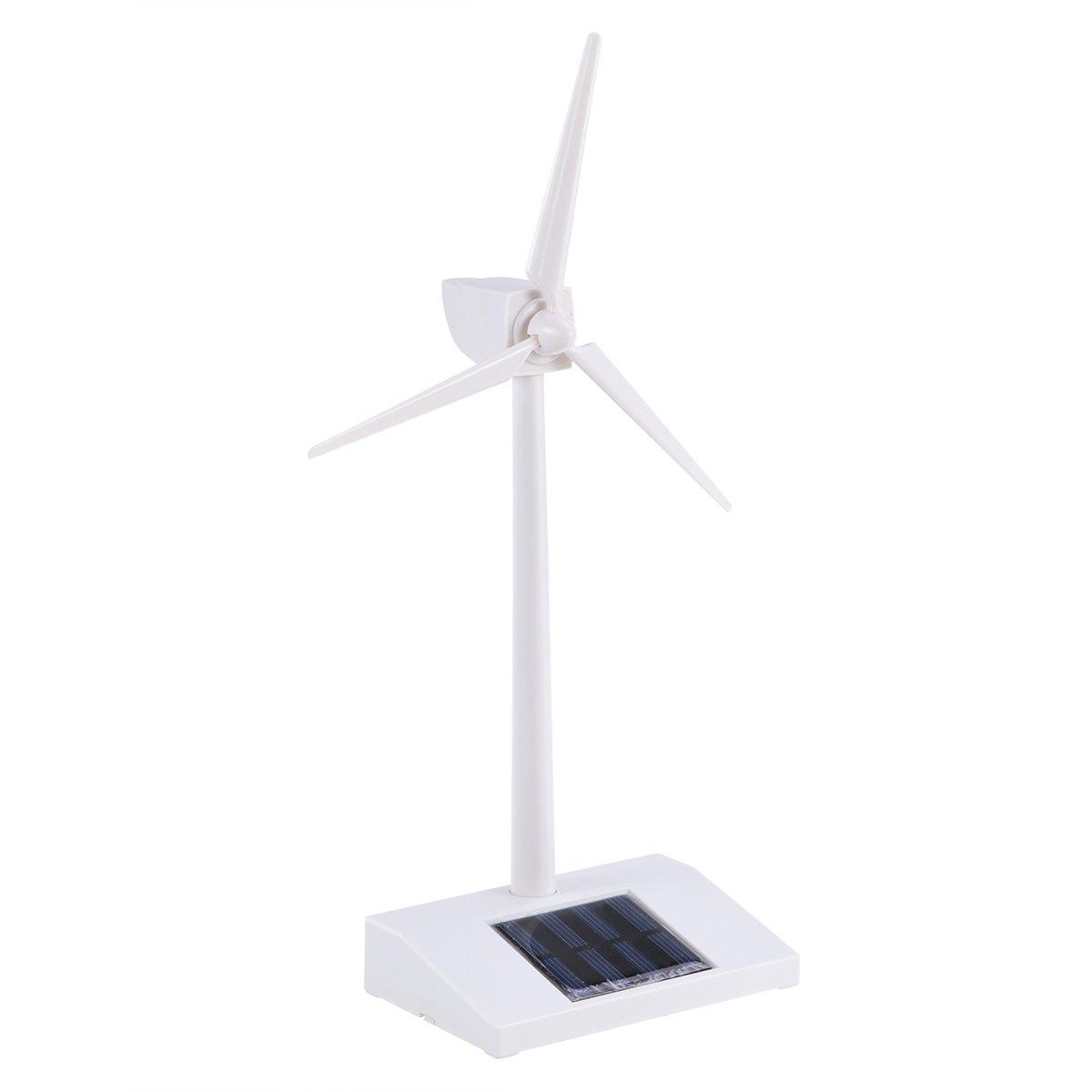 TOYMYTOY Moulins à vent actionnés solaires de turbine de vent de plastiques de modèle de bureau pour l'éducation