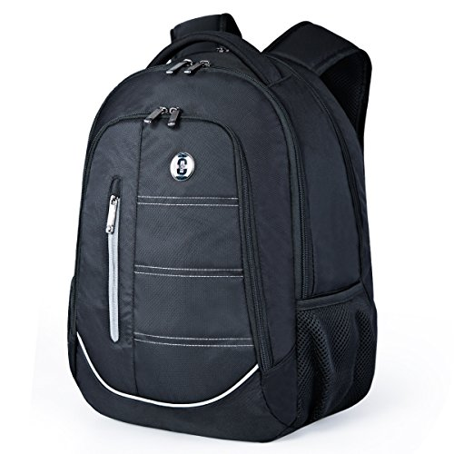 Notebook Trolley (Swissdigital Laptop Backpack, Busniess Travel Hiking Daily Smart Backpack with RFID Protection for Man and Woman Fits Under 15-Inch Laptop and Notebook, Black)