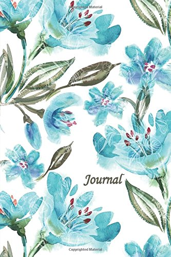 Journal: Blue Green Flowers 6x9 - DOT JOURNAL - Journal with dot grid paper - dotted pages with light grey dots (Watercolor Flowers Dot Journal Series) ebook
