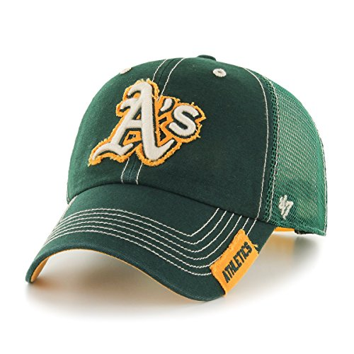 fan products of MLB Oakland Athletics Turner Clean Up Adjustable Hat, One Size, Dark Green