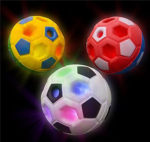 DollarItemDirect 4'' Light-UP Soccer Ball, Case of 144 by DollarItemDirect (Image #1)