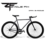 Zycle Fix 59 Inches Bike Fixed Gear Dark Shadow Pursuit Fixie Bicycle 59''