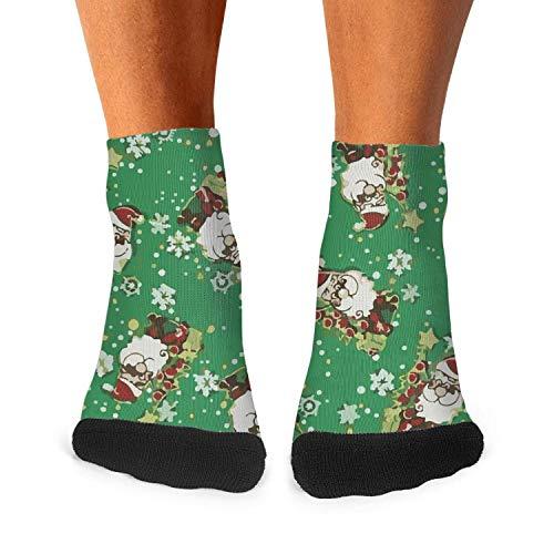 - Men's Moisture Crew Socks Merry Christmas Jolly Santas Ankle Socks