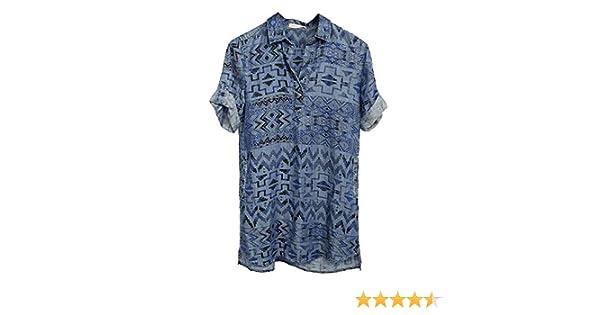 4616f87b378 Philosophy Ladies Long Pullover Denim Shirt/Dress Aztec Blue (Multiple  Sizes) at Amazon Women's Clothing store:
