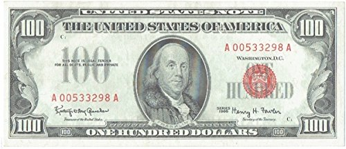 (1966 $100 Red Seal United States Note)