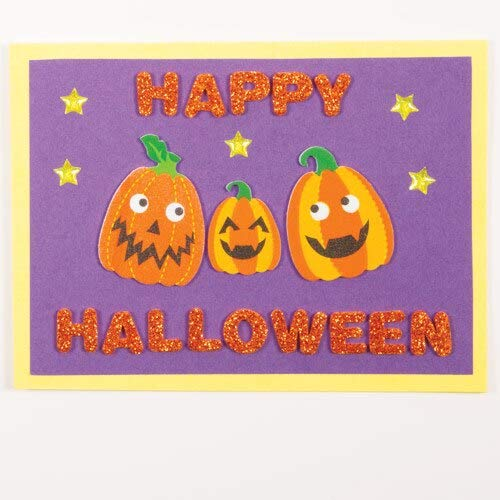 Design Trick-or-Treat Bags Create Cards Self-Adhesive 128 Pack Kids Halloween Arts and Craft Project Baker Ross Foam Pumpkin Stickers Decorate Rooms