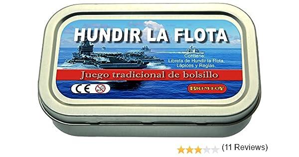 Juego de bolsillo/viaje Hundir la flota.: Amazon.es: Juguetes y juegos