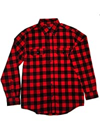 Mens Classic Yarn Dyed Plaid Cotton Flannel Shirt