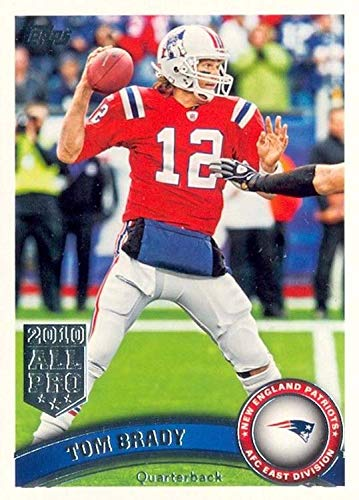 (2011 Topps Football Card # 400 Tom Brady / (red jersey) - New England Patriots - NFL Trading Card in a Protective)