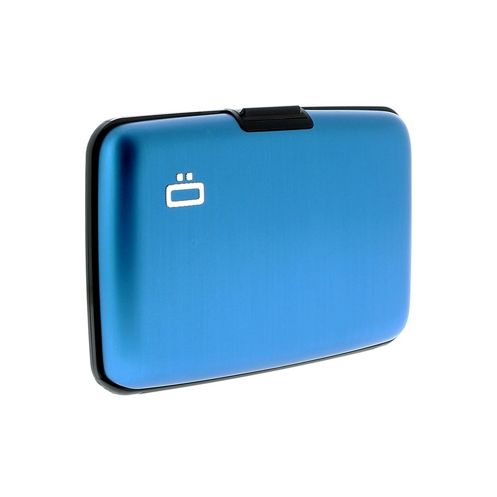 Porta Carte di Credito e Documenti OGON DESIGNS in Alluminio Blu ST