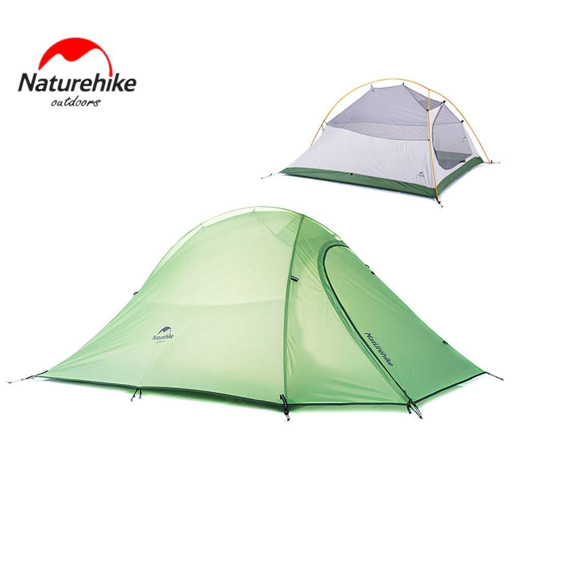 Sanzhileg Naturehike Doppeltes 20D Silicon überzogenes Vier Jahreszeiten Ultra helles kampierendes Zelt im Freien - Knospe Grün