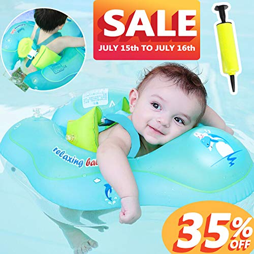 【Upgrade】Baby Swimming Float Ring-Baby Spring Floats Swim Trainer Newborn Baby Kid Toddler Age 3-48 Month 11-48 Lbs Summer Prime Offer July 15-16 Outdoor Water Toy Swimming Pool - Toys Baby Swim