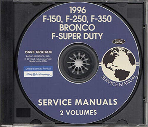1996 Ford F250 Pickup Truck - NEW 1996 FORD TRUCK & PICKUP FACTORY REPAIR SHOP & SERVICE MANUAL CD - INCLUDES Bronco, F-150, F-250, F350, F-Super Duty - COVERS Engine, Body, Chassis & Electrical. 96