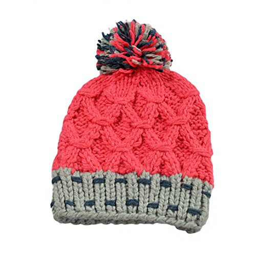 UPC 636266180240, Clearance! Wensltd Womens Rainbow Ball Hit Color Warm Knit Cap Hat (Hot Pink)