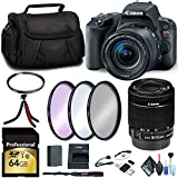 Canon EOS Rebel SL2 DSLR Camera 18-55mm Lens Memory Card, Filter Kit Cleaning Accessories