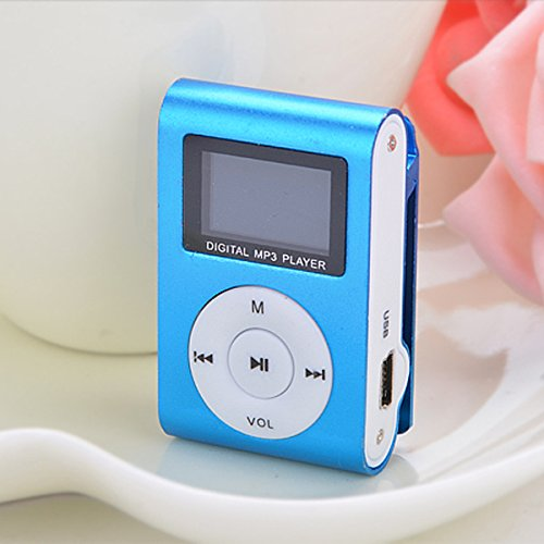 eshion eshion Mini Support 2GB-16GB Micro TF Clip Metal USB MP3 Music Media Player + Headphone