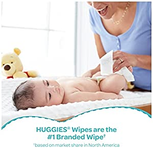 Huggies One & Done Scented Baby Wipes, Hypoallergenic, 8 Flip Top Packs, 448 Count Total