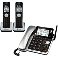 AT&T CL84202 Corded Telephone + 2 Additional Handheld Telephones and Chargers