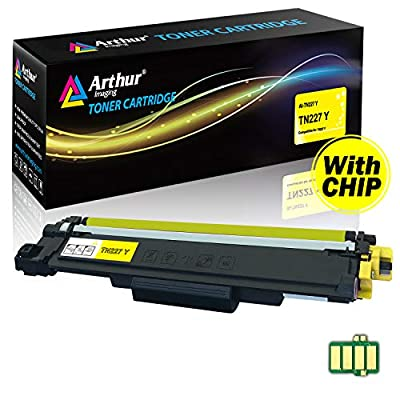Arthur Imaging with CHIP Compatible Toner Cartridge Replacement Brother TN227(Yellow, 1 Pack)