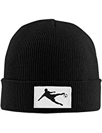 Winter Skull Hat, Soccer Sports Unisex Trendy Warm Cable Knit Hats