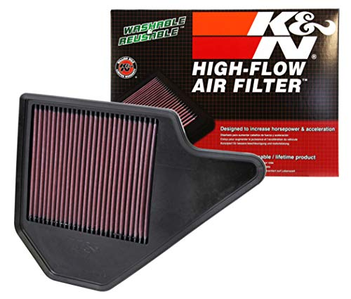 K&N engine air filter, washable and reusable:  2011-2019 Dodge/Chrysler/Lancia/Ram/Volkswagen V6 (Grand Caravan, Town & Country Van, Voyager, Cargo Van, Routan) 33-2462