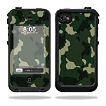 Mightyskins Protective Vinyl Skin Decal Cover for LifeProof iPhone 4 / 4S Case wrap sticker skins Green Camo