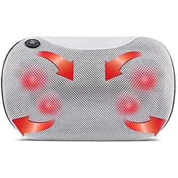 Amazon.com: Shiatsu - Cojín masajeador con calor para ...