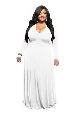Sexy plus size white dress