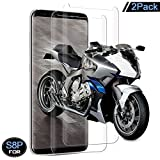 Galaxy S8 Plus Screen Protector, Zebre Tempered Glass 3D Screen Protector for Samsung Galaxy S8 Plus, 9H Hardness, Bubble Free, Anti-Fingerprint HD Screen Protector Film [2-Pack]