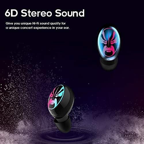 Chennong AYD True BluetoothステレオヘッドフォンTWSワイヤレスインイヤーイヤホン(充電ボックス付き、スポーツ用) (Color : Black1)