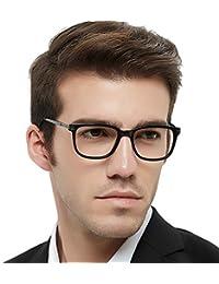 b731e0fa3a52 Optical Eyewear Non-prescription Fashion Glasses Eyeglasses Frame with  Clear Lenses for Men Blue Light